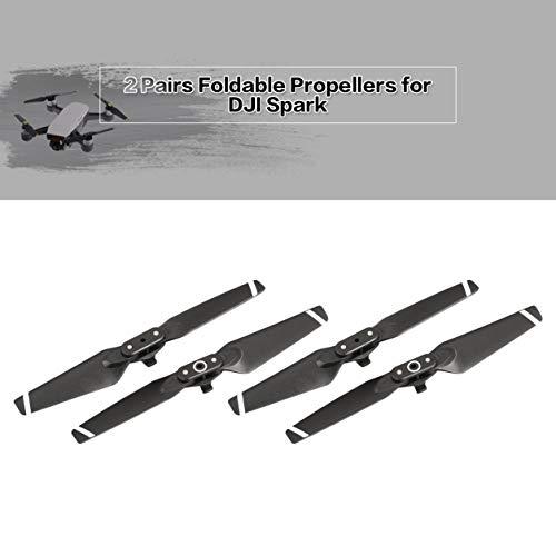 2組の折り畳み式CW CCWプロペラ交換用ブレード・プロップ(DJIスパーク・ドローン用)