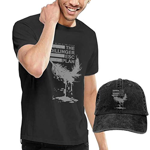 The Dillinger Escape Plan TDEP Esc One Of Us Is The Killer Feather Men's Round Neck Short Sleeve T Shirt And Cowboy Hat