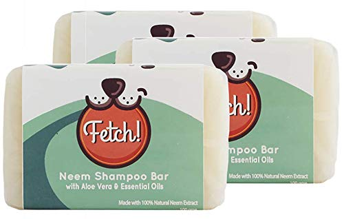 Fetch! Neem Shampoo Bar with Aloe Vera and Madre de Cacao 100 Grams x 3 Bars (3-pcs Multi-Pack)