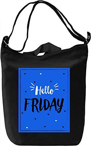 Hello Friday Borsa Giornaliera Canvas Canvas Day Bag  100% Premium Cotton Canvas  DTG Printing 