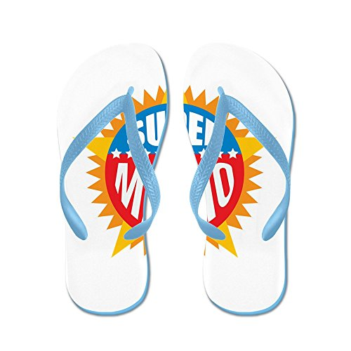 Cafepress Super Mario - Flip Flops, Roliga Rem Sandaler, Strand Sandaler Caribbean Blue