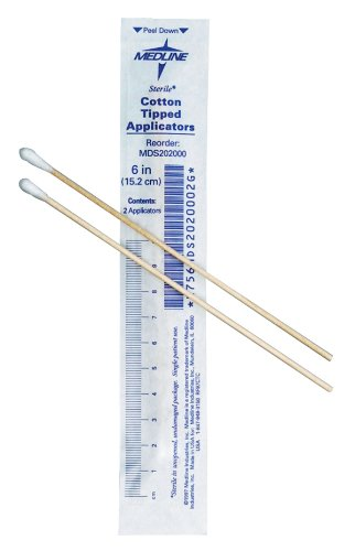 Cotton Tipped Applicators (Medline MDS202010Z Sterile Cotton Tipped Applicator, 6