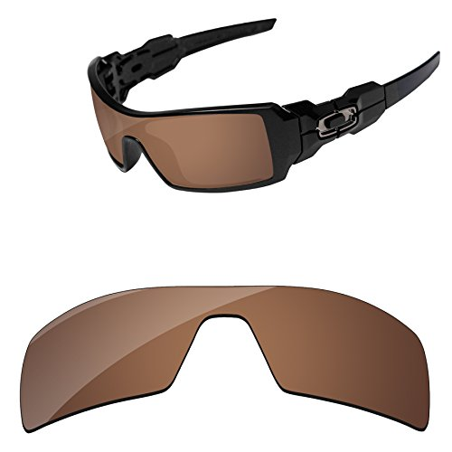 PapaViva Replacement Lenses for Oakley Oil Rig Copper - Oil Rig Lens