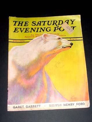 SAT EVE POST-2/1/1936-JACK MURRAY POLAR BEAR CVR/DOLE G