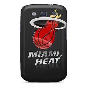 New Fashion Premium Tpu Case Cover For Galaxy S3 - Miami Heat Logo