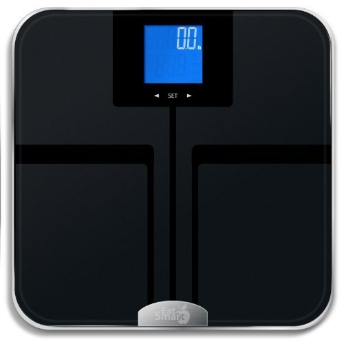 EatSmart Precision GetFit Digital Body Fat Scale w/ 400 lb. Capacity & Auto Recognition Technology by EatSmart