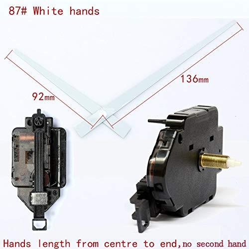 Maslin 15mm Screw Length 12888 Pendulum Type Movement with 87# White Hands Step Clock Accessory Quartz DIY Movement Kits