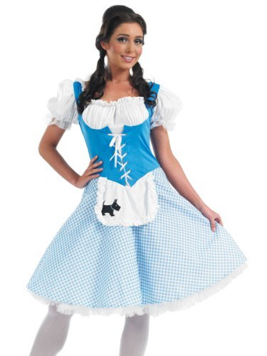 [Fun Shack Adult Dorothy Costume - MEDIUM by Fun Shack] (Hollywood Film Fancy Dress Costumes)