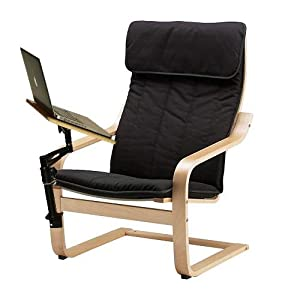 Amazon Com Laptop Chair With Adjustable Desk Table Stand