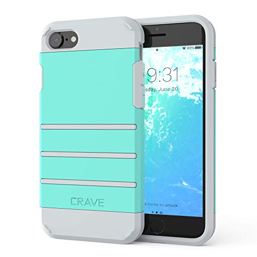 iPhone 8 Case, iPhone 7 Case, Crave Strong Guard Protection Series Case for Apple iPhone 8/7 (Mint Grey)