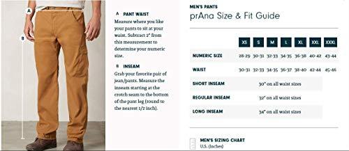 prAna Men's Zioneer Inseam Pants, Charcoal, Size 34