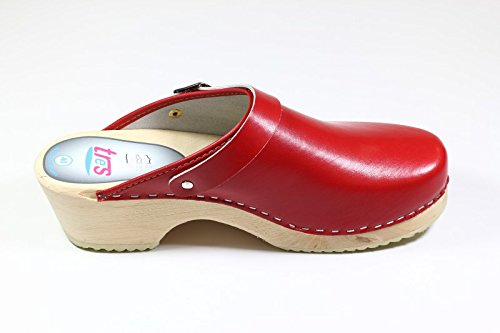 Tres Strap Red Original Schwedenclogs With Xwdng7q