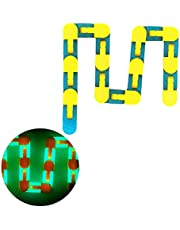 BTSEURY 24 Links Luminous Decompression Folding Chain for Kids Adults Bicycle Chain Track Fidget Toys Educational Toys