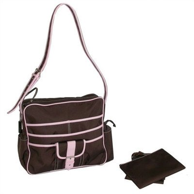 Kalencom Multitasker Diaper Bag, Chocolate/Pink