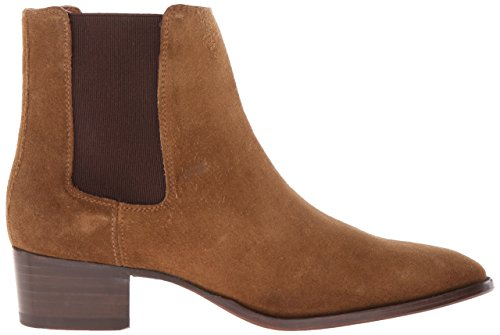 Frye Women's Dara Suede Chelsea Boot, Black Chestnut