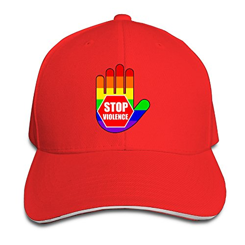 Unisex Stop Violence Support LGBT Adjustable Snapback Baseball Caps 100%cotton Red One Size (Taylor Set Red Box Swift)