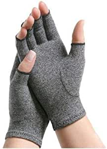 IMAK Compression Arthritis Gloves, Relieves Arthritic Aches, Pain, & Joint Swelling, Open Fingertip Gloves Provide Compression, Warmth, & Comfort, Increases Poor Circulation, XL, Pair, Up to 11.43cm