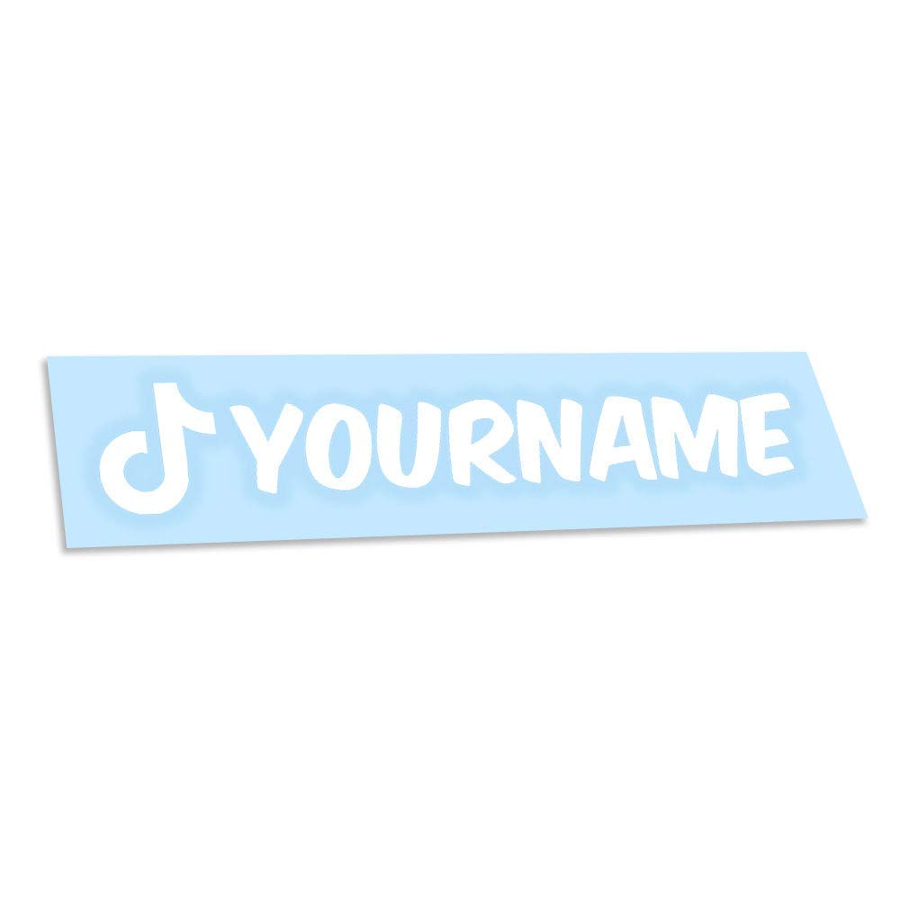 Amazon Com Custom Tiktok Name Vinyl Decal Personalized Username Sticker Vinyl Car Decal Social Media Car Window Vinyl Decal Sticker Handmade