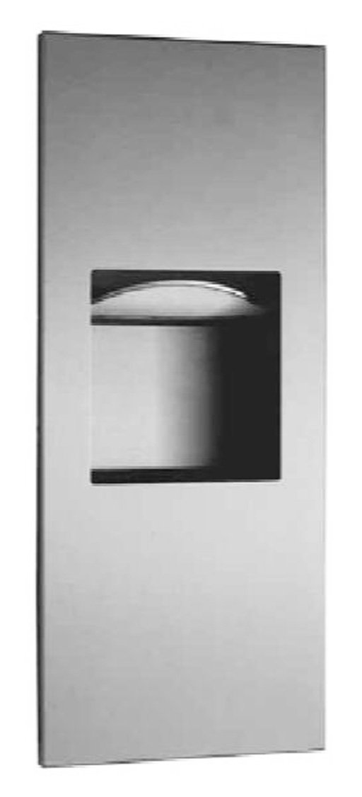"""Bobrick 36903 TrimLineSeries Stainless Steel Recessed Paper Towel Dispenser and Waste Receptacle, Satin Finish, 13"""" Width x 31-1/8"""" Height x 3-5/8"""" Depth"""
