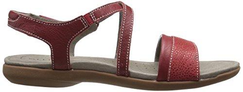 Keen - Zapatos de cordones de cuero repujado para mujer Rojo RED DAHLIA Rojo - RED DAHLIA