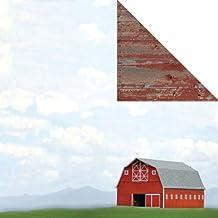 John Deere Barn Scene Double Sided Scrapbook Paper - CI25598 - 1 Sheet (25598)