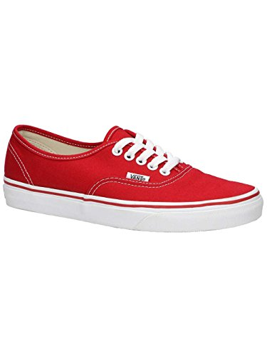 Vans Unisex Authentic Red Canvas VN000EE3RED Mens 10.5, Womens - Original Vans