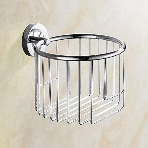 壁掛けトイレットペーパーホルダー、トイレットペーパーバスケット、バスルームキッチンロール紙管、ステンレスシルバーメッキ
