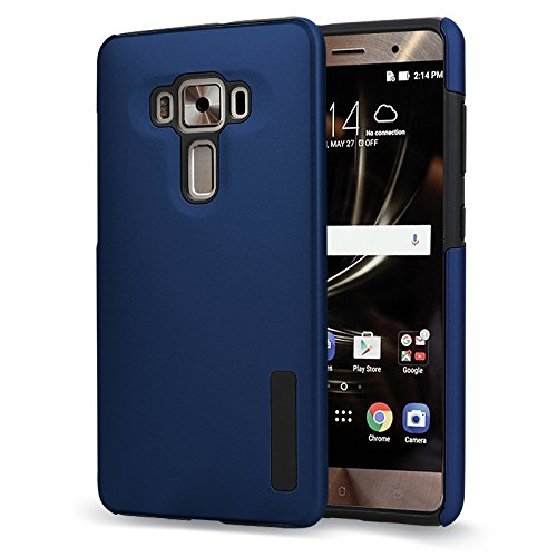 Asus ZenFone 3 Deluxe ZS570KL Case, TOP K Hybrid Heavy Duty Armor Hard Plastic PC + Soft TPU Shockproof Protection Defender Case for Asus ZenFone3 Deluxe ZS570KL Phone Case 5.7 Inches (Navy Blue)