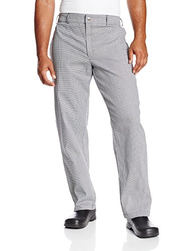 Chef Revival P034HT Yarn Dyed Poly Cotton Hounds Tooth Pattern Chef Trouser with 2 Side and 2 Rear Pockets, 5X-Large by Chef Revival