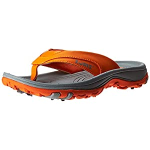 ZORIZ Golf Sandal,Orange,10