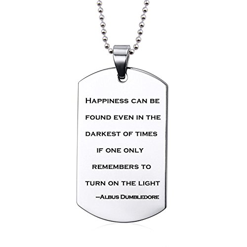 Inspirational Pendants Necklace Albus Dumbledore Quote jewelry Christmas gift for Friends (Harry Potter Jewelry Necklace)