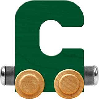 product image for Maple Landmark NameTrain Bright Letter Car C - Made in USA (Green)