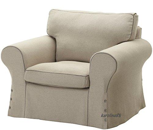 Ikea Ektorp Chair Slipcover Cover, Risane Natural, 102.408.96 (Ikea Chair Slipcover)