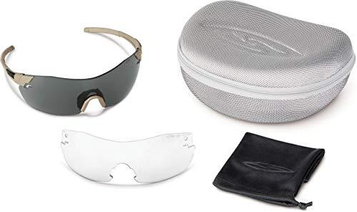 (Smith Optics Elite Pivlock V2 Tactical Sunglass, Gray/Clear, Tan 499)