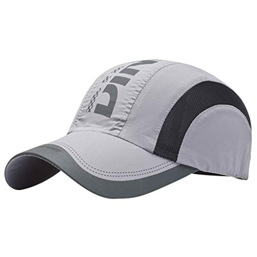 Glumes Quick Dry Sports Hat Lightweight Breathable Soft Outdoor Run Cap Men's Sun Caps for Tennis/Golf/Baseball/Fishing/Hiking ()