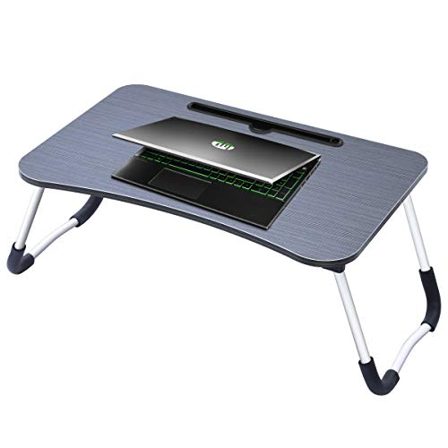 Laptop Bed Tray Table,Portable Laptop Bed Stand Modern Laptop Desk with Foldable Legs Reading Holder Foldable Lap Tablet Table for Home