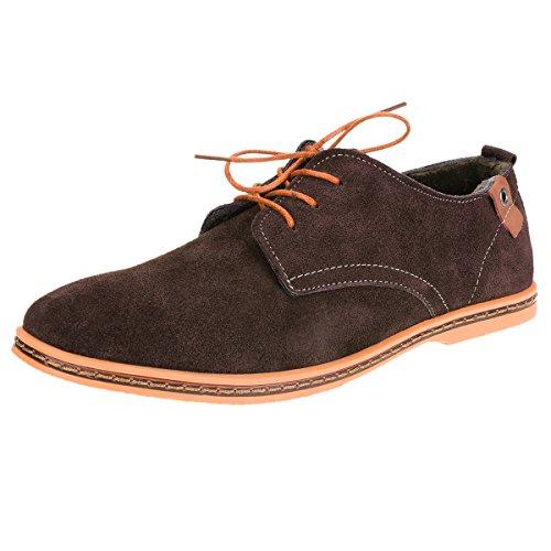 TinTop Schnürhalbschuhe Herren Derby Wildleder Oxfords Anzugschuhe Lace-ups Herren Schuhe Braun