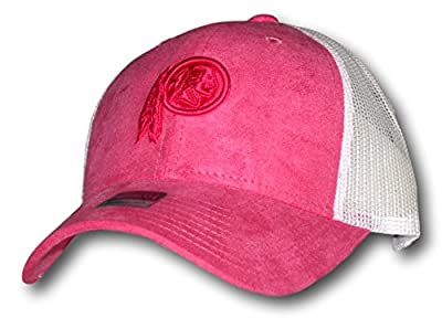 Washington Redskins Pink with White Mesh Adjustable Hat Lid Cap from Fan Apparel