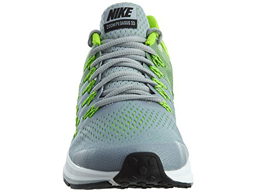 Nike Kids Boys Zoom Pegasus 33 Shoes, Cool Grey/Electric Green/White/Black, 7 Big Kid M