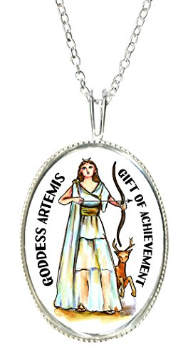 Goddess Lady Cameo - Goddess Artemis of Achievement 925 Sterling Silver 1