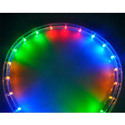 50ft Christmas Lighting LED Rope Light Multi-Color w/ Connector Power Cord Connectors Holiday Strip Ribbon Decorative Lighting Outdoor Indoor 110v
