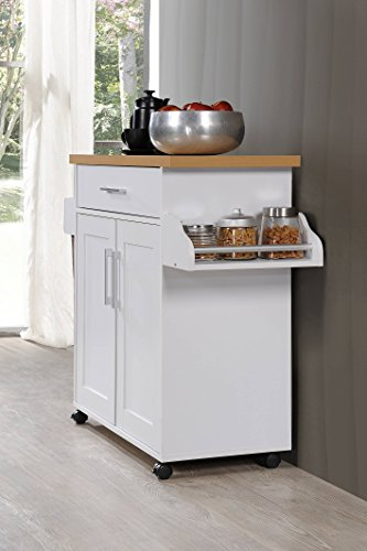 Hodedah Kitchen Island With Spice Rack Towel Rack
