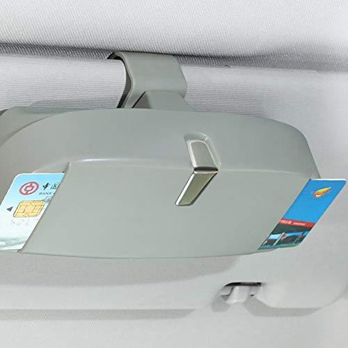 Grau Panamami Auto-Brillen-Etui Multi-Funktions-Sonnenbrille Ticket-Empfang-Karten-Speicher-Halter