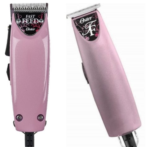 Oster Pink Combo Fast Feed and T finisher Limited Edition Made in the USA Package deal.