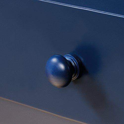 "Sauder 420136 Cottage Road Side Table, L: 15.16"" x W: 15.16"" x H: 26.54"", Indigo Blue finish"