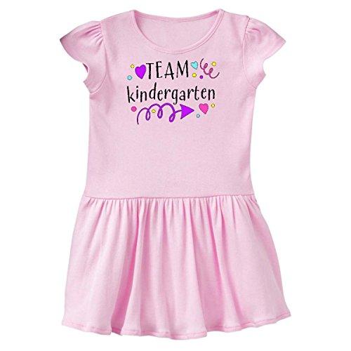 inktastic - Team Kindergarten Hearts Toddler Dress 2T Ballerina Pink 3144c (Dress Ballerina Heart)