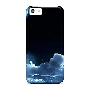 Case Cover Cloudy Moon/ Fashionable Case For Iphone 5c