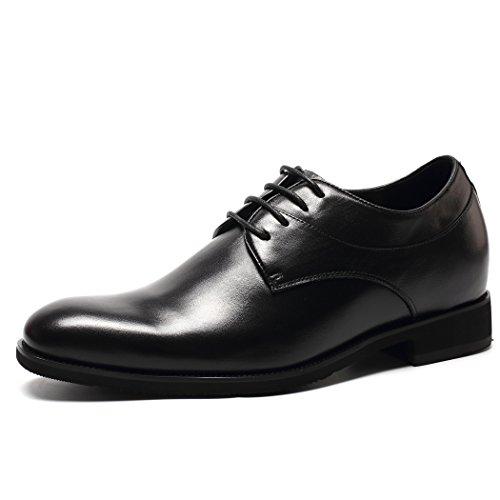 CHAMARIPA Zapatos Negro de Cordones Oxford Para Hombre, 7 cm más alto - H61D06N082D