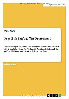 Rapsöl als Kraftstoff in Deutschland