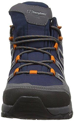 Berghaus Explorer Active Gtx Tech, Zapatos de High Rise Senderismo para Hombre Multicolor (Navy/orange Y40)